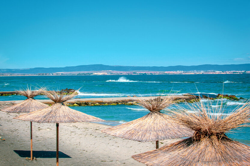 Strand in Pomorie in Bulgarien