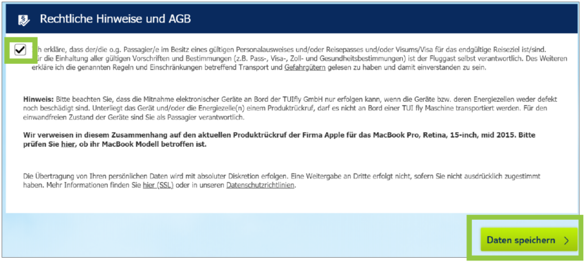 Web Check-In bei TUIfly - So geht's