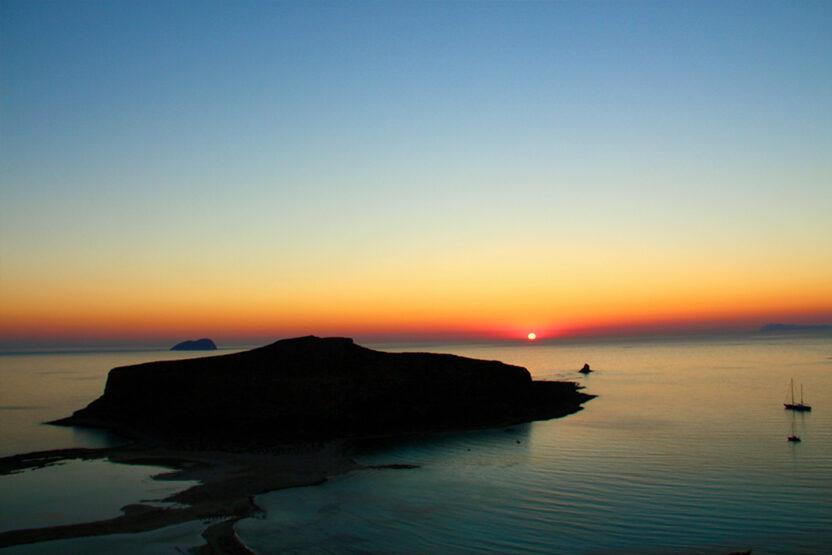 Die Lagune von Balos auf Kreta bei Nacht