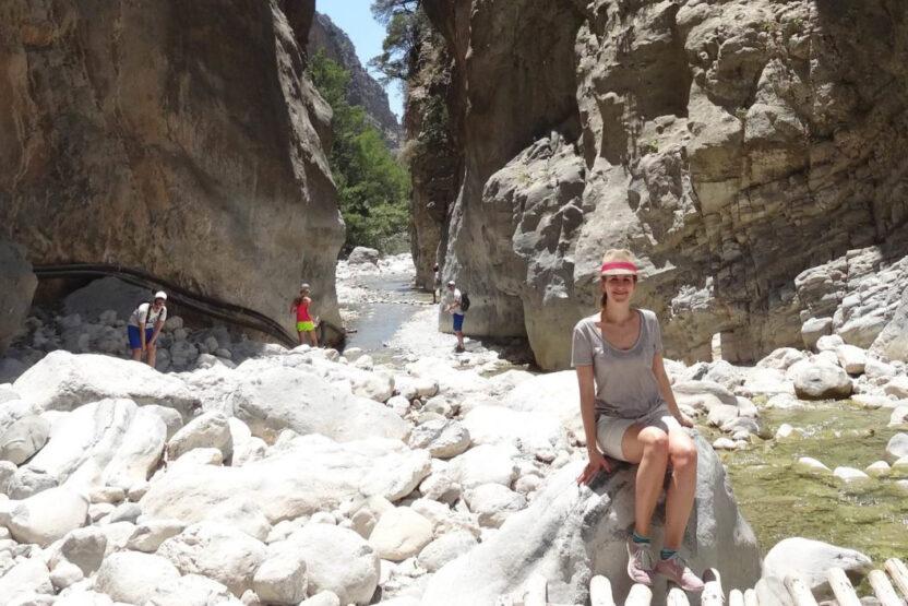 Bloggerin Melanie in der Samaria-Schlucht