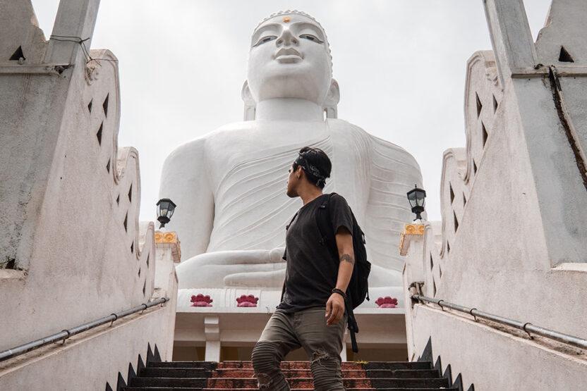 Buddha Statue in Kandy, Sri Lanka