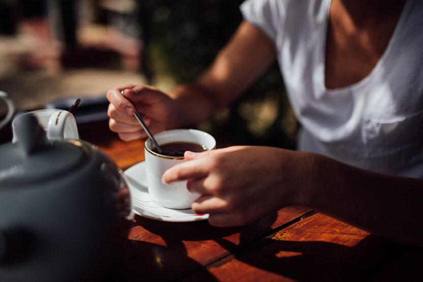Tee trinken in Sri Lanka