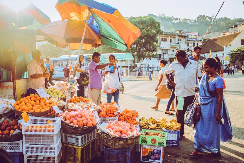 Wochenmarkt in Kandy, Sri Lanka