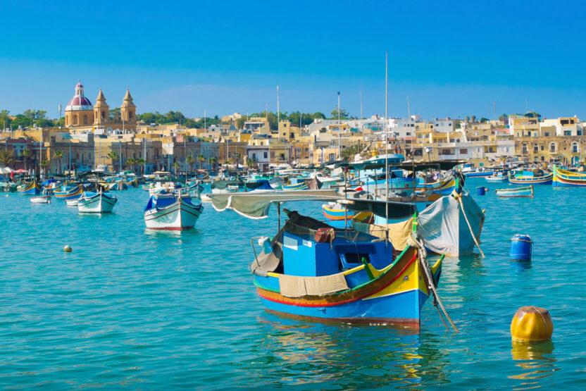 Dghajsa, einem typisch Maltesischen Boot