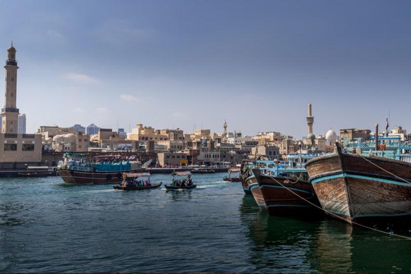 Boote im Dubai Creek