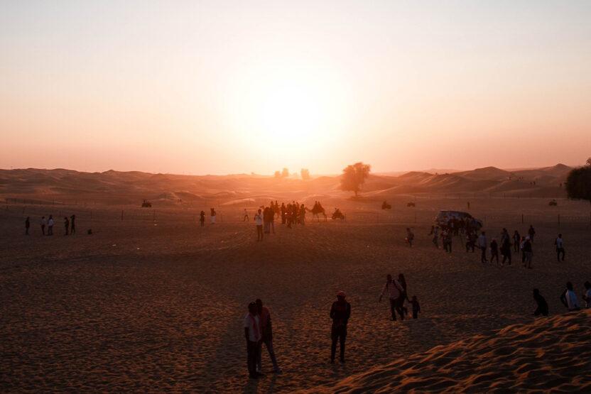 Abenddämmerung in der Wüste