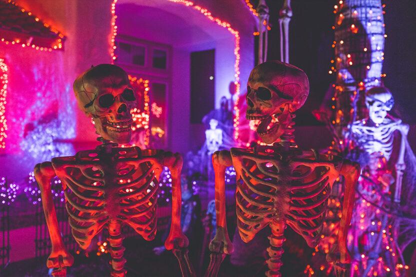 Skelette an Halloween