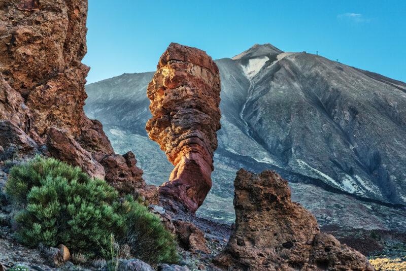 Das meist fotografierte Motiv Teneriffas: Der Roque Cinchado im Nationalpark Teide auf Teneriffa
