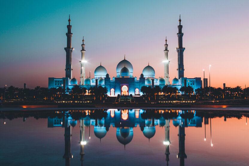 Scheich-Zayid-Moschee bei Nacht