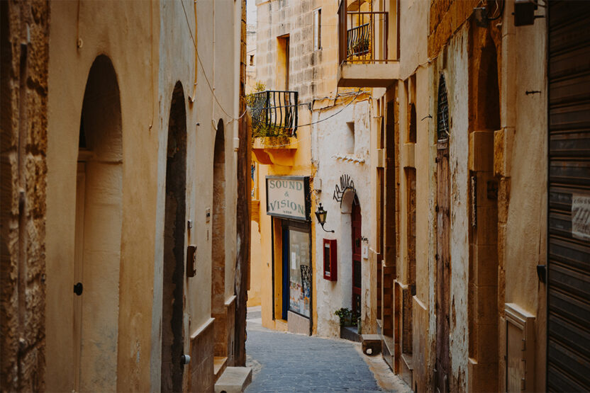 Kleine Seitengasse in Valletta