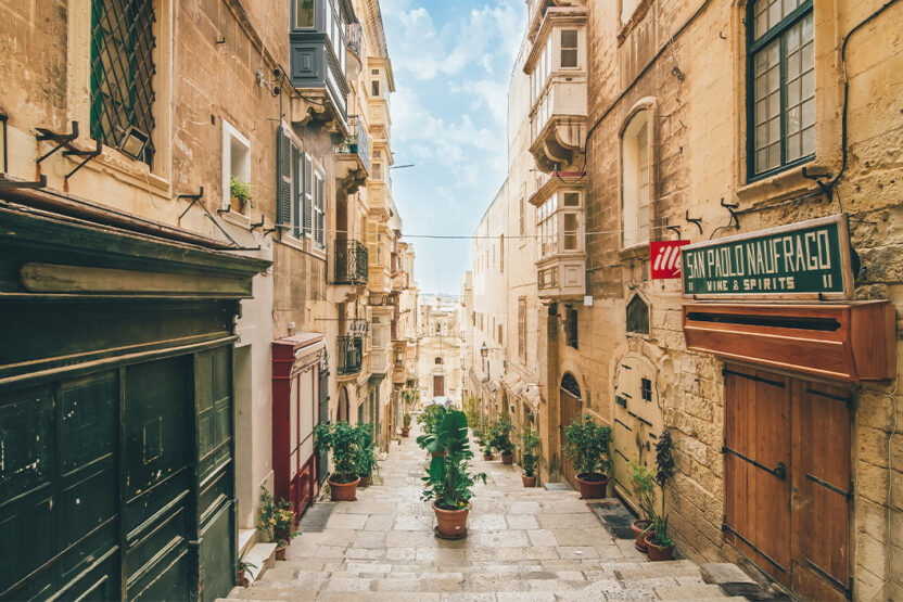 Kleine Gasse in Valletta