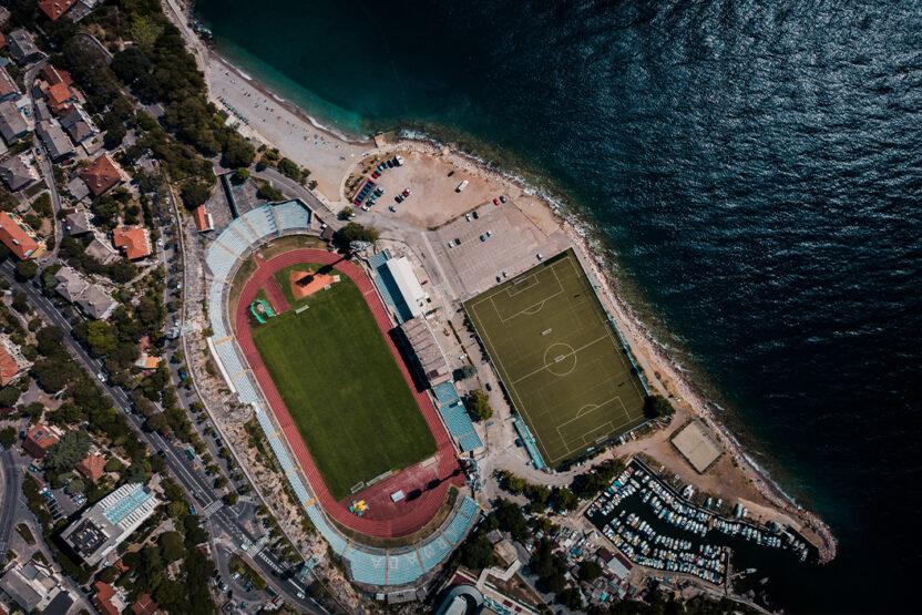 Kantrida à Rijeka – un stade juste au bord de la mer