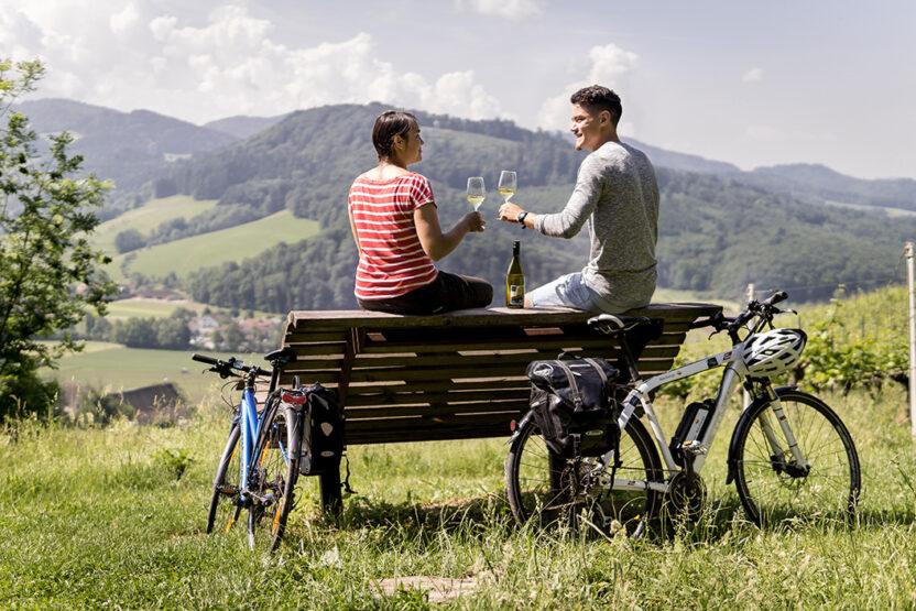 Pause auf dem badischen Weinradweg