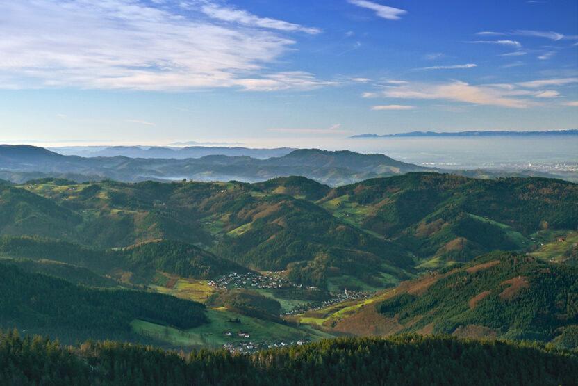 Blick von der Hornisgrinde im nördlichen Shcwarzwald