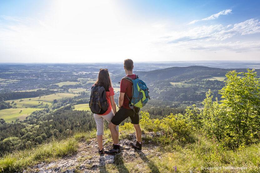 Ausblick Schwaebische Alp
