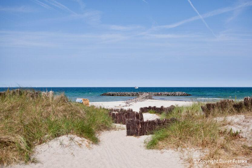 Ausblick Schönberger Strand beim Urlaub an der Ostsee