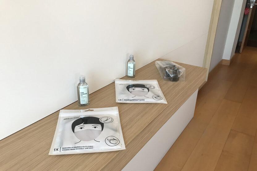 Hygiene-Kit bei Ankunft